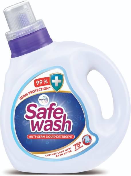 WIPRO safe wash anti germ liquid detergent 1Liter Multi-Fragrance Liquid Detergent