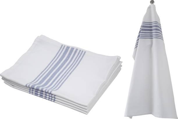 Flipkart SmartBuy White/Blue Striped Kitchen Towels 4 pcs Blue, White Napkins