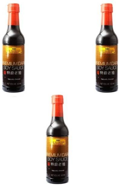 Lee Kum Kee Premium Dark Soy Sauce -500 ml (pack of 3) Sauce