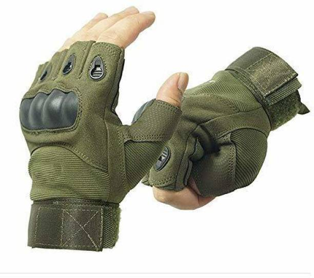 BREEMETIC Half Finger Gloves for Sports ,Cycling , Motorcycle Riding, Gym Gloves Gym & Fitness Gloves