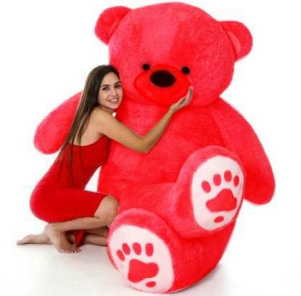 ManoJ Enterprises 2 Feet Red American Style teddy bear with foot  - 24 inch