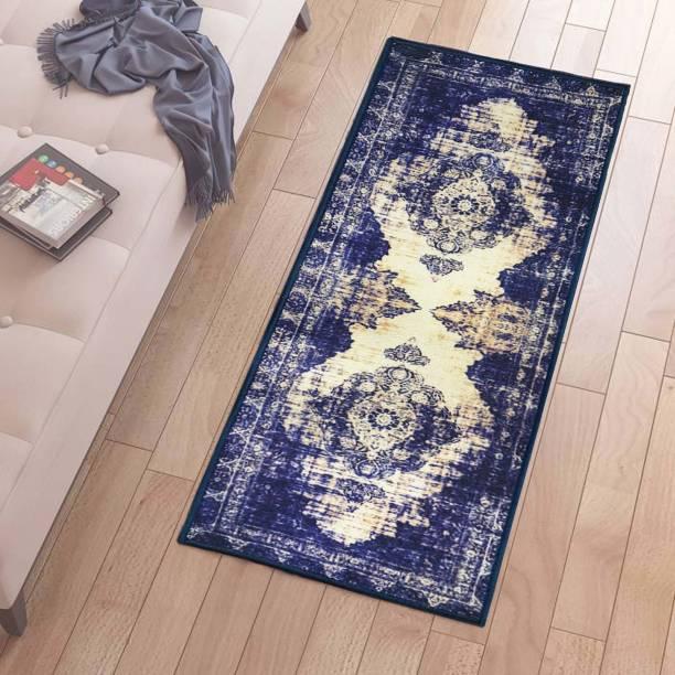 Flipkart Perfect Homes Blue Polyester Runner