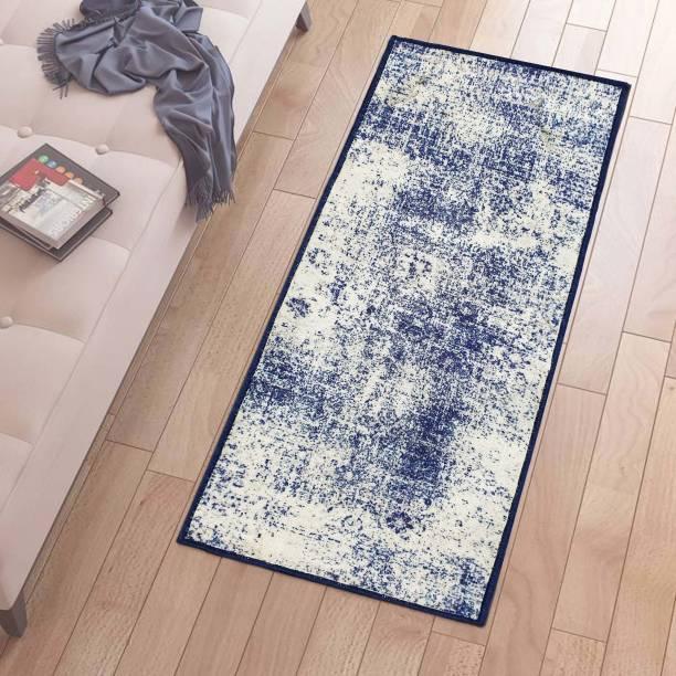 Flipkart Perfect Homes Blue, Beige Polyester Runner