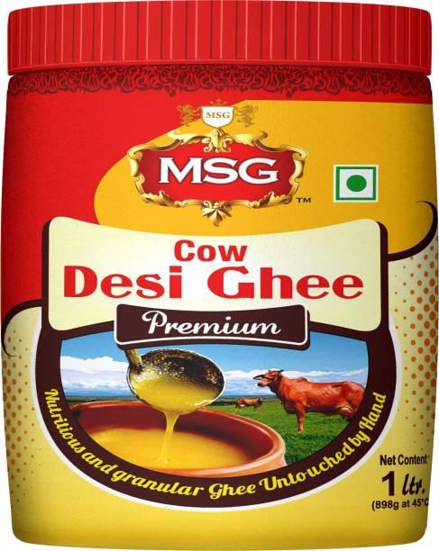 MSG Premium Cow Desi Ghee 1 L Mason Jar