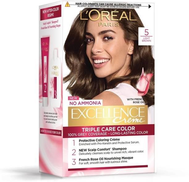 L'Oréal Paris Excellence Creme Hair Color (Rs. 50 Off) , Light Brown