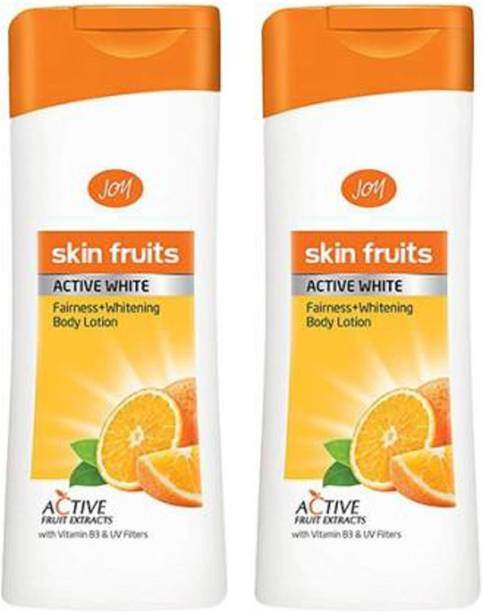 Joy skin Fruits Women's Active White Fairness and Whitening pack of 2