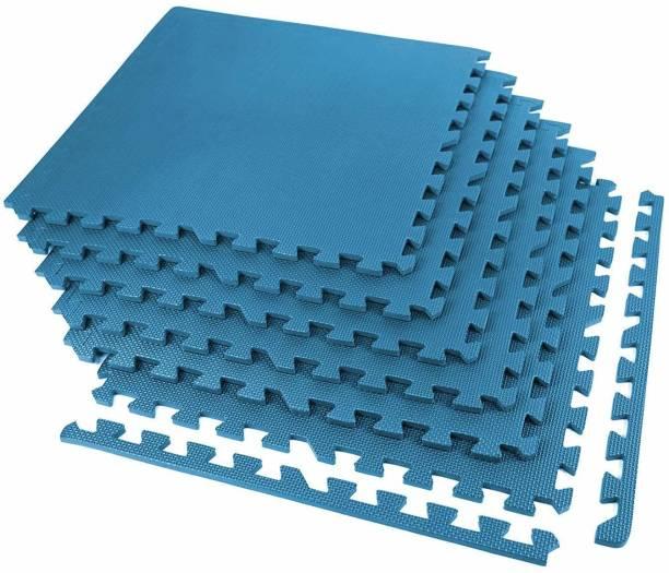 SIGNATRON Fitness Puzzle Exercise Mat, EVA Foam Interlocking Tiles, Flooring for Gym 10MM Blue 60 cm mm Exercise & Gym Mat