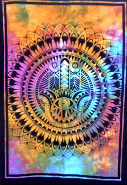 Heyrumbh Handicrafts Bohemian RR22 Good Luck Hamsha Sign Tapestry