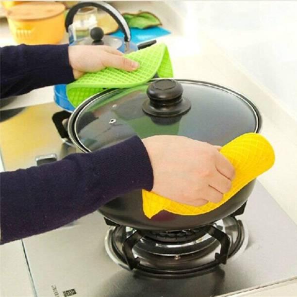 Detly Yellow, Green Silicon Kitchen Linen Set