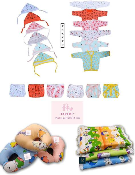 Fareto Infant Clothing Combo Set(0-3 Months)(Total Items: 24)