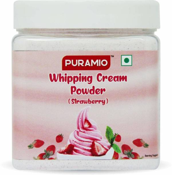 PURAMIO Whipping Cream Powder (Strawberry), Icing