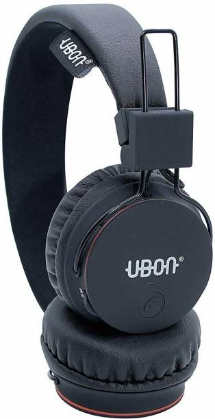 Ubon BT-5720 Rapstar Wireless 5.0 On Ear Headphone 10 Hrs Playtime with Mic/Aux/TF Card Slot Bluetooth Headset