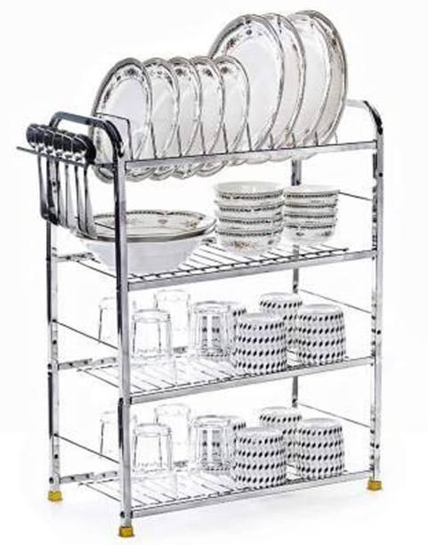 Maxtan 4 Shelf Dish Rack   Modular Kitchen Utensils Rack   24 L x24 H inch Storage Basket   Utensil Kitchen Rack Utensil Kitchen Rack