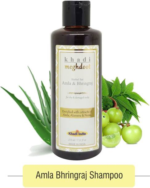 KHADI MEGHDOOT Herbal Shampoo Amla & Bhringraj 210ml