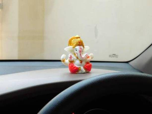 BECKON VENTURE Handcrafted Lord Ganesha Idols for home decor|God idols for car dashboard|Ganesha Idol for car dashboard, gifts And home|Ganesha statue in Religious Idols|ganesh idol in Spiritual & Festive Décor|table decoration items|home decor showpieces|Decorative items for room in Racks & Shelves|handicraft items|Ganesh ji ki murti|ganpati |statues|statue of gods |statue for car|statue for home|Showpieces &Figurines|showpiece gift sets|showpiece for living room|Ganesha showpiece |showpieces in home| Decorative Showpiece  -  5 cm