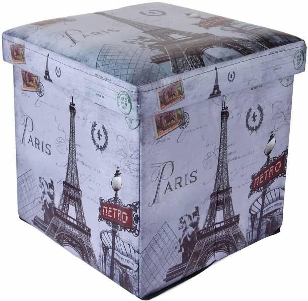 uberlyfe Foldable Ottoman Storage Box Cum Stool - Paris (OTTO-994) Living & Bedroom Stool