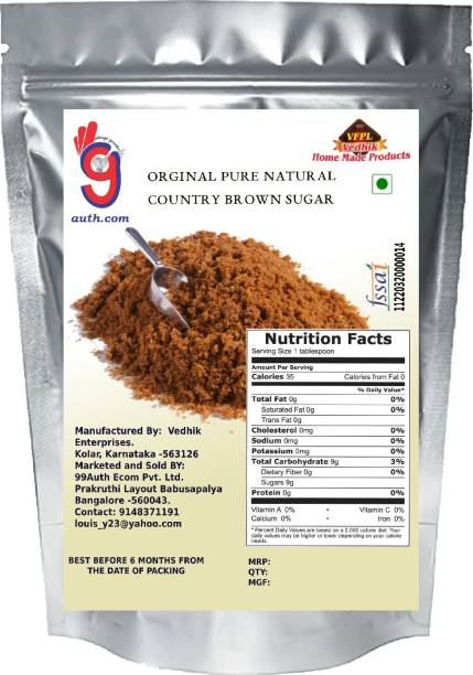 99Auth Sugar 500g Brown Sugar. No Adulteration. Pure Genuine Sugar Sugar