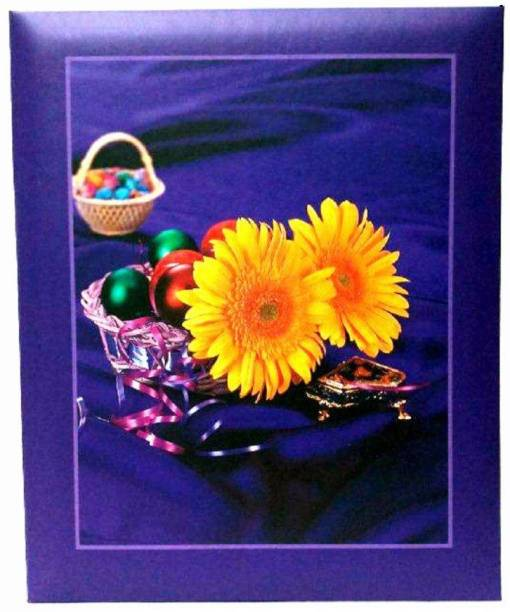 Natraj Memo Photo Album with 0.6mm Thick Extra Clear PVC Film, 100 Pocket, (Photo Size Supported: 5'x7') Album