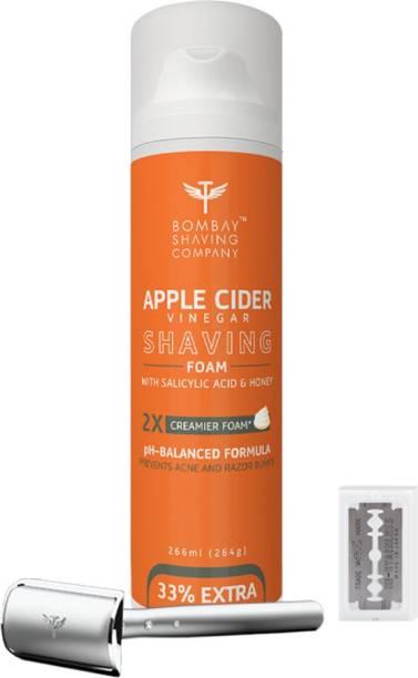 BOMBAY SHAVING COMPANY Mini Professional Shaving kit-(Apple cider Vineger Shaving Foam,Precision Razor & 10 Blade)