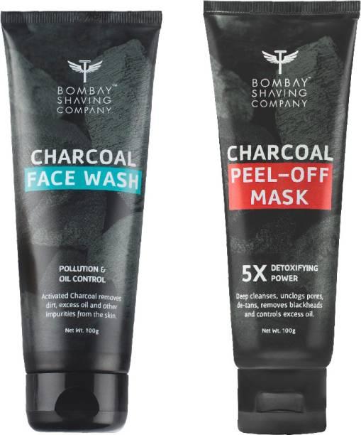 BOMBAY SHAVING COMPANY Charcoal Face wash & Peel of mask Combo