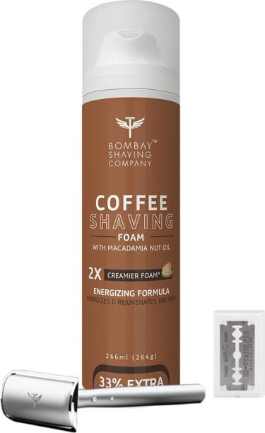 BOMBAY SHAVING COMPANY Mini Professional Shaving kit-(Coffee Shaving Foam,Precision Razor & 10 Blade)