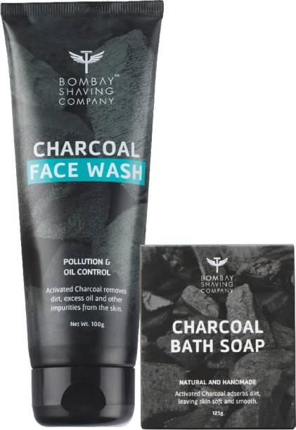 BOMBAY SHAVING COMPANY Charcoal Face wash & Charcoal Soap -125g Combo