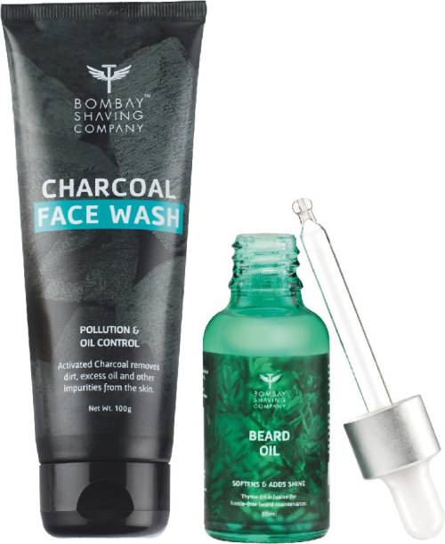 BOMBAY SHAVING COMPANY Charcoal Face wash & Beard Growth Cedarwood Oil-30ml Combo