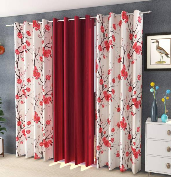 Lanil's choice 275 cm (9 ft) Cotton Door Curtain (Pack Of 3)