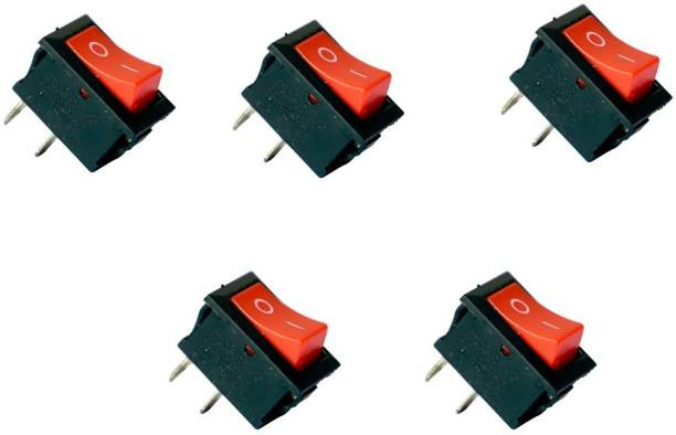 Tool Point 2 Pin Dpdt Black Button on/off/on Ac 250v/15a 125v/20a Rocker Switch 15 A One Way Electrical Switch
