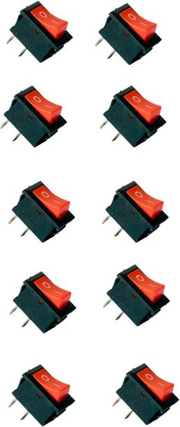 Tool Point 2 Pin Dpdt Black Button on/off/on Ac 250v/6A 125v/10A Rocker Switch 15 A One Way Electrical Switch