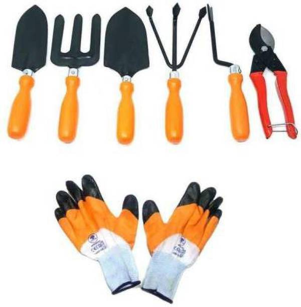 fitweight Gardening Tools Set with Heavy Cutter & Gloves Combo Garden Tool Kit Garden Tool Kit