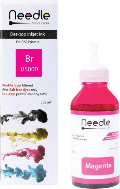 Needle 100ml Br B5000 Needle ink tank Inkjet compatible with Brother DCPT310, DCPT510W, DCPT710W, HLT4000DW, MFC-T4500DW, MFC-T910DW Magenta Ink Bottle