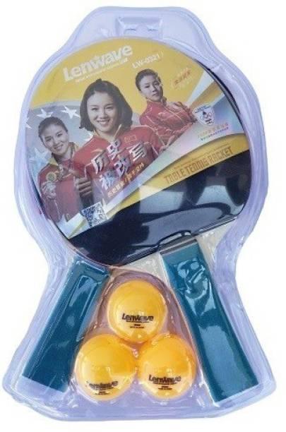 LenWave LW0321B: Table Tennis Racquet Set of 2 and 3 Balls Table Tennis Kit