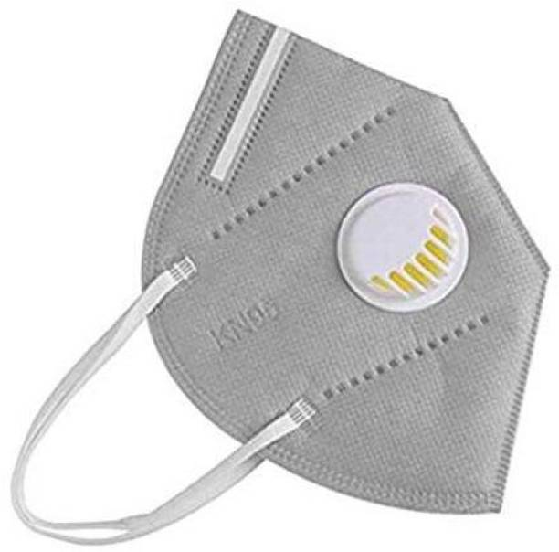 aadicare KN-95 Air Filter Face Mask Reusable,Washable- Anti Dust/Pollution/Bacterial Premium Quality Mask for Kids,Adults,Men & Women , GREY COLOR