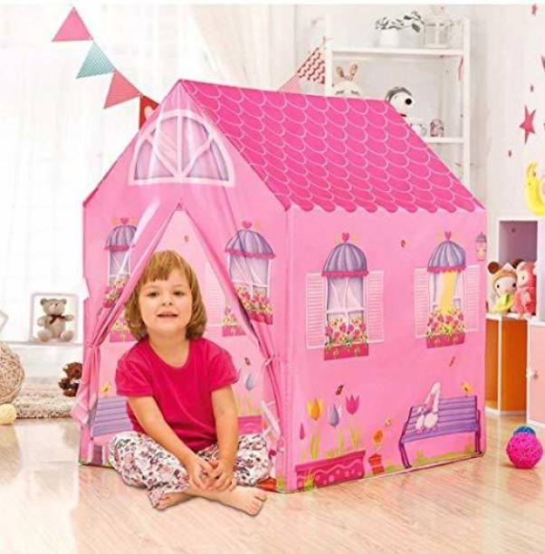 srenterprise Water and Fire Proof Plastic Doll Tent House for Kids