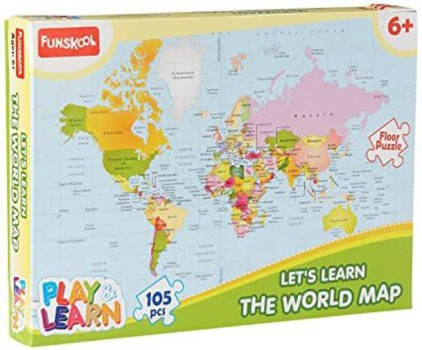 FUNSKOOL World Map Puzzles Educational Game
