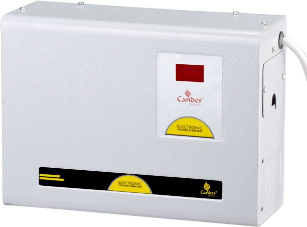 Candes Crystal 590 Voltage Stabilizer for 2 Ton AC (90V to 290V) & Wide Working Range best for Inverter AC, Split AC or Windows AC upto 2 Ton with 6 Years Warranty
