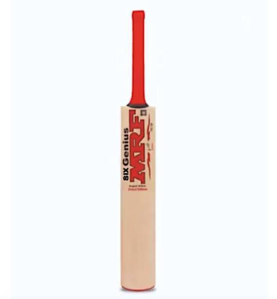MRF six genius Grand Edition Bat with cover Kashmir Willow Cricket  Bat