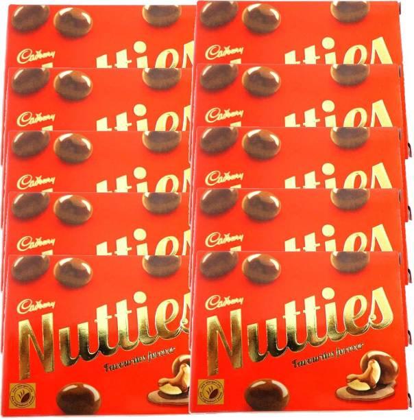 Cadbury Nutties Chocolate 30 g pack (Pack of 10) Brittles