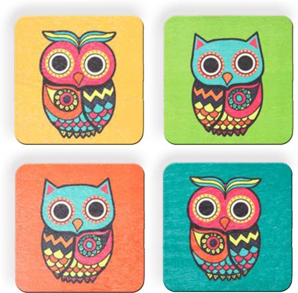Clapcart Square Medium Density Fibreboard Coaster Set