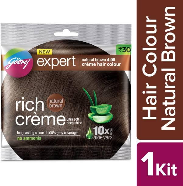 Godrej Expert Rich Crme Hair Colour (Single Use) Shade 4 , Natural Brown