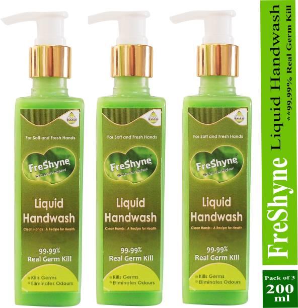 FRESHYNE Liquid hand wash 99.99% real germ kill Hand Wash Pump Dispenser
