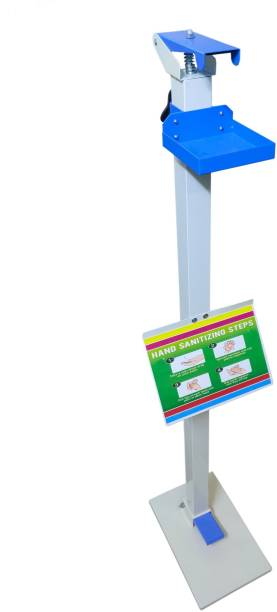 Green Revolution Hand Touch Free Foot Operated Sanitizer Dispenser Stand 1 L Sanitizer Stand Dispenser
