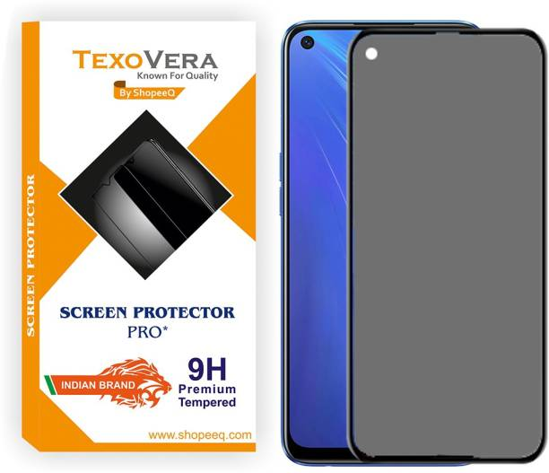 TexoVera Edge To Edge Tempered Glass for Realme Narzo 20 Pro, Realme 7i, Realme 6i, Realme 7, Realme 6, oneplus 8T, Oneplus 9, Oppo A52, Oppo A72, Oppo A92, Oppo A32, Oppo A33, Oppo A73 Matte With Camera cut