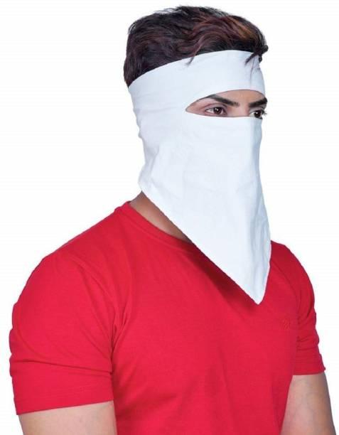 JK ENTERPRISE White Bike Face Mask for Men & Women