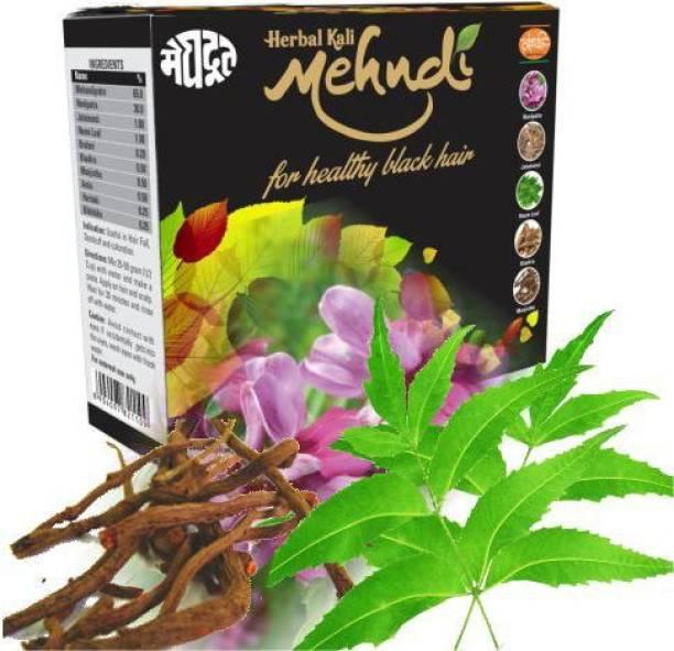 MEGHDOOT Herbal Kali Mehandi 100gm (Pack of 2) , Black