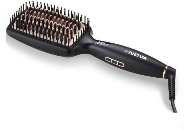 Nova NHS 904 Heated Straightening Smoothing Brush Hair Straightener