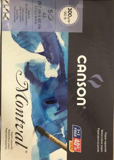CANSON MONTVAL WATERCOLOR ACID FREE PAPER UNRULED A3 SIZE (29.7CM X 42 CM) 300 gsm Watercolor Paper