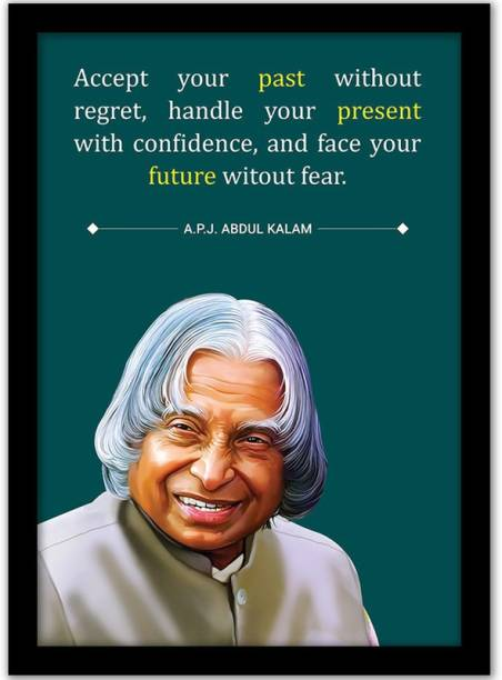 APJ Abdul Kalam Quotes Wall Frame | APJ Abdul Kalam Wall Posters | Motivational Quotes Frame for Office Wall School Study Room College Institute Students Enterpreneur Classroom and Home|Inspirational Quotes Wall Frame | Motivational Quote Framed Poster for Home Decoration | Quotes Wall Frame Posters - Multi Color Paper Print