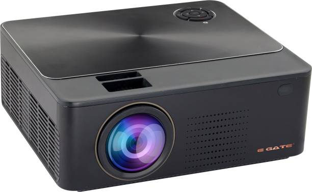 """Egate K9 720p (1080p Support) , 3000 L (360 ANSI ) with 180 """" Large Display LED Projector 